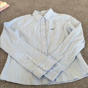 Abercrombie & Fitch Blue strip button down